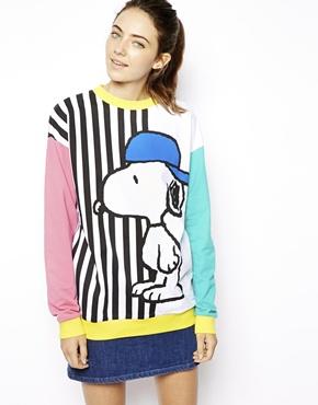 ASOS   ASOS Sweatshirt with Skater Snoopy Stripes at ASOS
