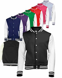 Awdis Varsity Letterman College Jacket XS s M L XL XXL Baseball Jacket | eBay
