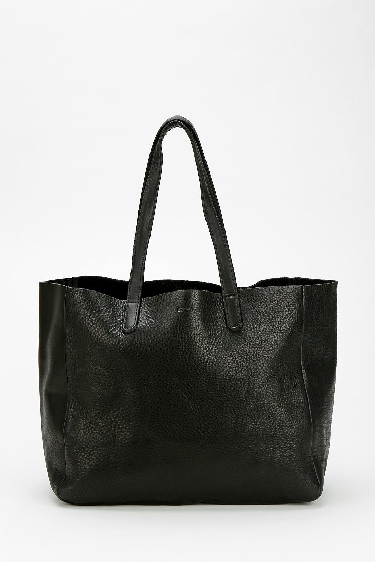 BAGGU Oversized Leather Tote Bag - Urban Outfitters