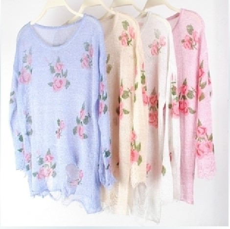 Aliexpress.com : Buy 2014 hot sale  5color new Wildfox sweater  women  sweatshirts Wildfox shirt sweater rose Jacqueminot hole pullover thin sweater from Reliable sweater outerwear suppliers on Brand clothing High quality
