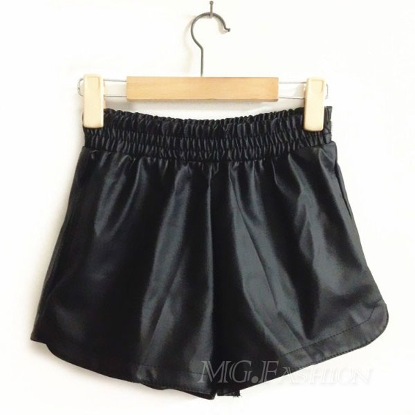 Women Wild PU Leather Pants Shorts With Pockets | eBay