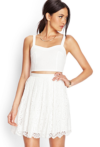 Floral Lace A-Line Skirt | FOREVER 21 - 2000061501