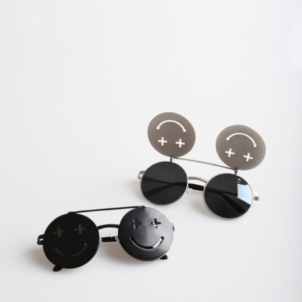 sunglasses glasses cross smile gaga lady round retro