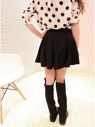 East Knitting OT 025 2013 women fashion short mini skirts candy color pleated skirt free shipping-in Skirts from Apparel & Accessories on Aliexpress.com