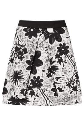 Flower Fold Aline Skirt - Skirts  - Clothing  - Topshop USA