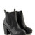 Suzy Black PU Grip Sole Chelsea Boot at Fashion Union