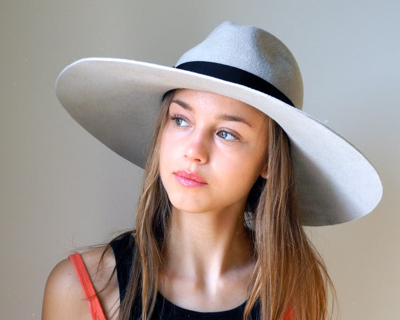 Wide Brimmed Fedora Hat Women Fall Fashion Winter by KatarinaHats