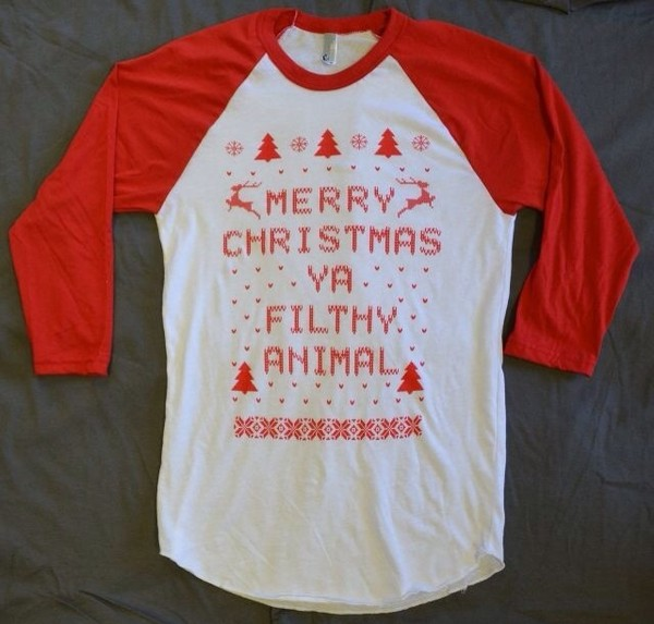 blouse red christmas ugly christmas sweater cotton