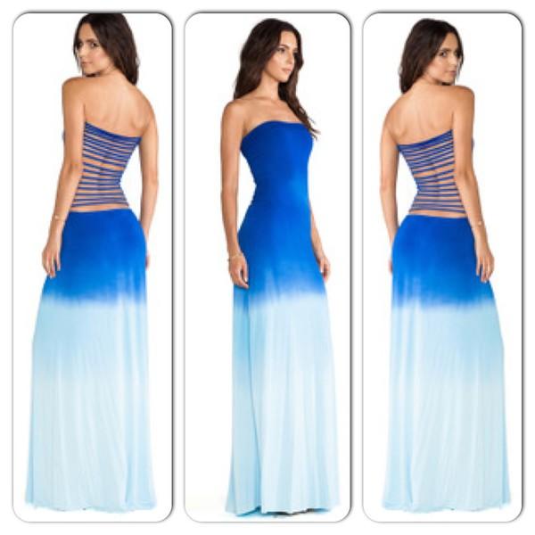 dress cut out bodycon dress maxi dress ombre
