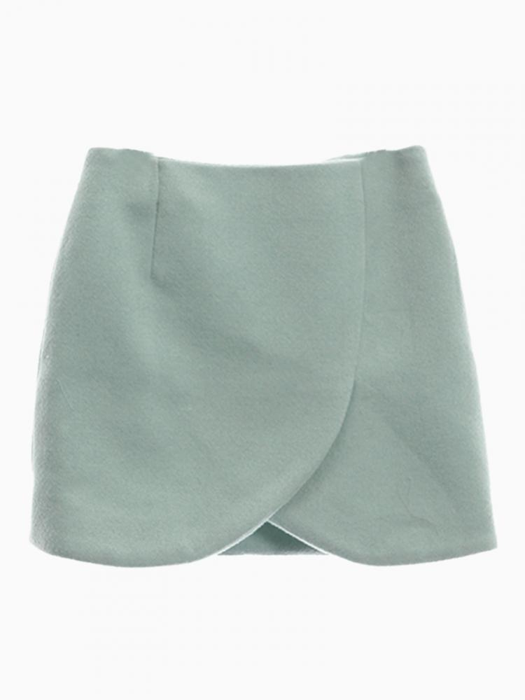 Green Wrap Skirt With Zip Back | Choies