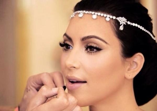 jewels kim kardashian head jewels wedding accessories headwear wedding