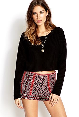 Geo Girl Woven Shorts | FOREVER 21 - 2000065098