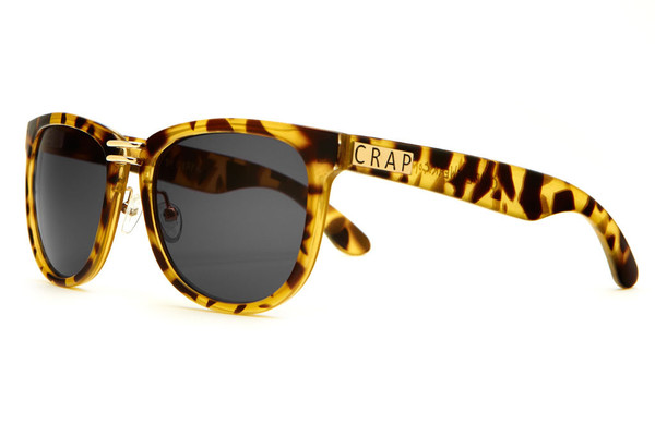 The Nudie Max - Gloss Jungle Tortoise w/ Grey CR-39 Lenses   CRAP Eyewear