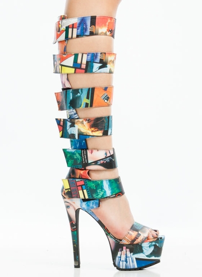 Strap-To-It-Collage-Gladiator-Heels MULTI - GoJane.com