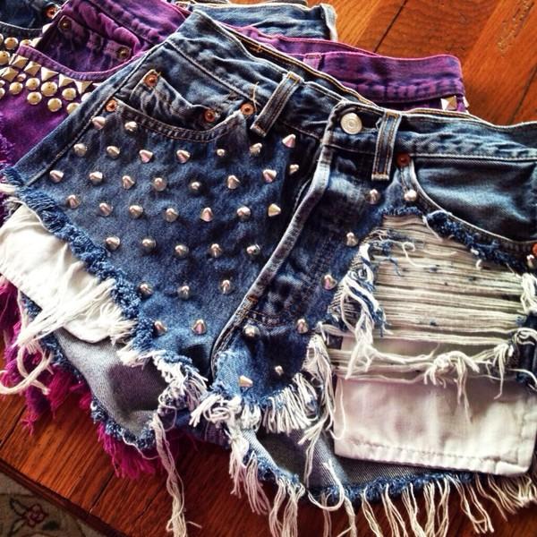 shorts denim shorts denim studded jean shorts