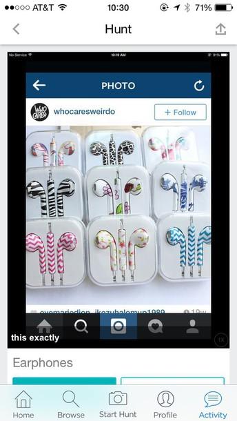 earphones pattern iphone