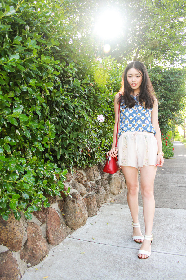 k is for kani tank top shorts shoes jewels