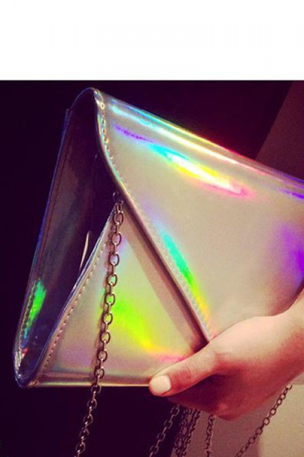 bag holographic clutch hologram clutch