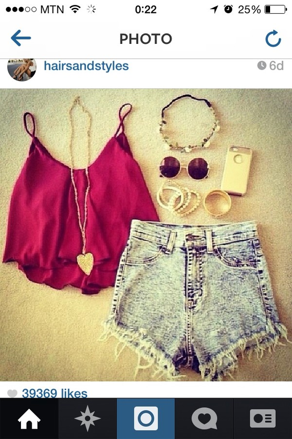 shorts blouse jewels sunglasses top shirt