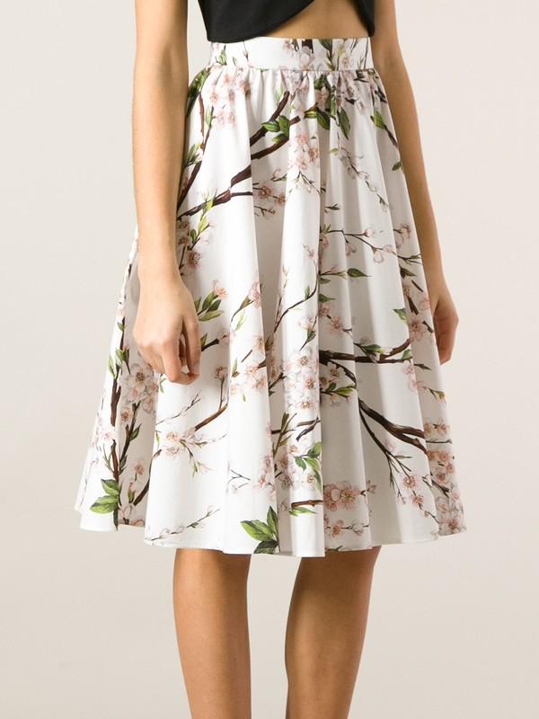skirt floral printed skirt a-line skirt dolce and gabbana