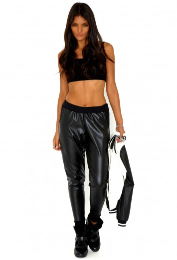 Fareysa Leather Trousers - trousers - missguided