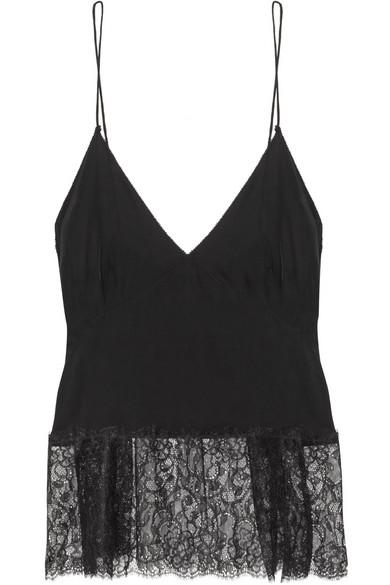 By Malene Birger Kafi lace-trimmed crepe camisole NET-A-PORTER.COM