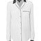Louise silk dress/pajama shirt white – maison de papillon