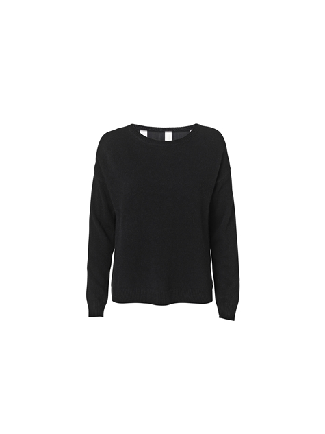 Malikka silk back pullover - Clothing - By Malene Birger