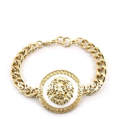 Enamel Lion head bracelet, gold color-in Special Store from Jewelry on Aliexpress.com