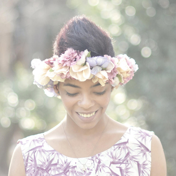 jewels flower crown paradís flowers crown headband hair accessory