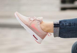 shoes nike air max nike air max thea pink shoes pink nike airmax