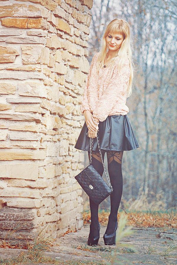 charmeuse blouse skirt bag shoes