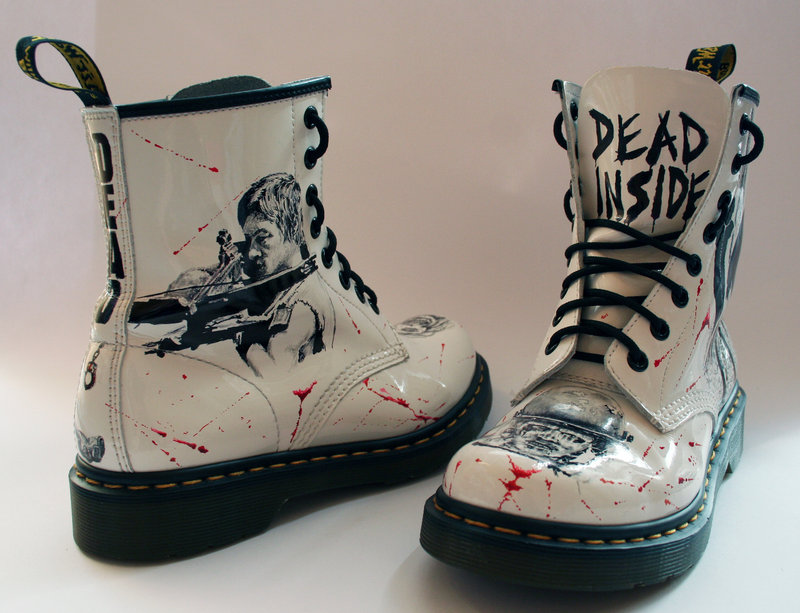 The Walking Dead customised Dr Martens by RTyson on deviantART