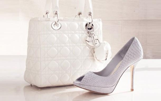 bag white dior purse