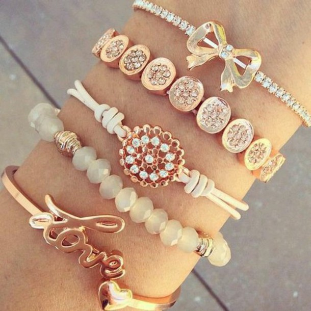jewels bracelets brecelets jewerly gold adorible