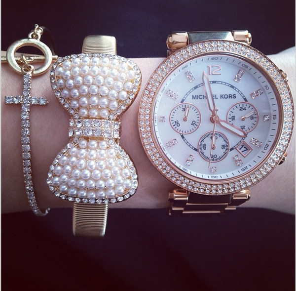 jewels arm candy pearl accessories arm accessories pretty bracelets gold bracelet watch