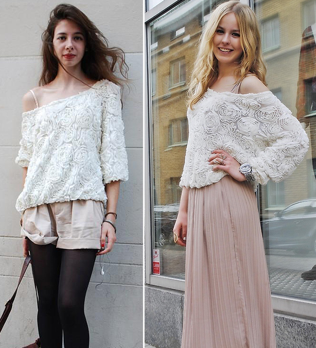 S M L Womens Lace Rose Floral 3D Mesh Pullover Jumper Sweater Shirt Blouse Top J   eBay