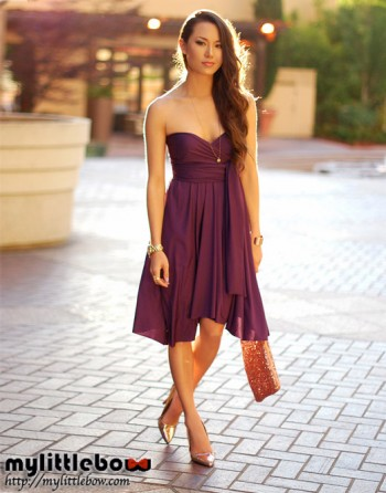 MLB's Convertible Dress – Luscious Purple - MyLittleBow