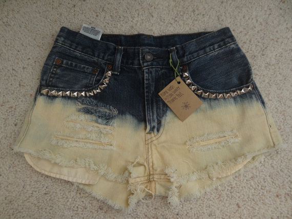 Dip Dye Studded Levi shorts by DaisyyDukes on Etsy