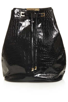 Patent Croc Backpack - Bags & Purses  - Bags & Accessories  - Topshop