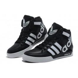 Adidas Originals Mens/Womens Hard Court Hi Big Logo Mid Shoes Black/White - 2080s.com