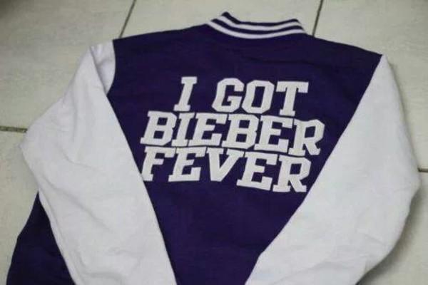 jacket college justin bieber justin bieber belieber belieber purple white