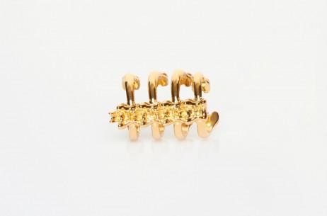 Jennifer Fisher Vertebrae Ring In Yellow Gold   The Dreslyn