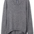 ROMWE | ROMWE Asymmetric Zippered Deep Grey Jumper, The Latest Street Fashion