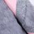 Pink Long Sleeve Contrast Rabbit Fur Woolen Coat - Sheinside.com