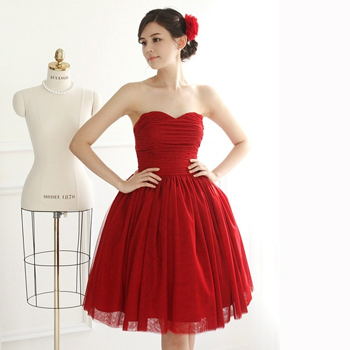 Free shipping Red short evening dress  bangdage adjustable S XL one piece dress 2013 for women-inEvening Dresses from Apparel & Accessories on Aliexpress.com