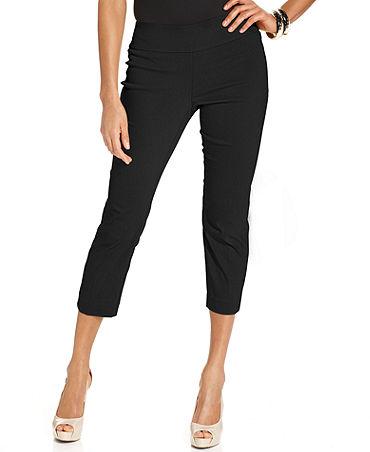 Alfani Skinny Pull-On Capri Pants - Women - Macy's