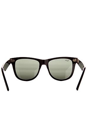 Ray Ban Sunglasses Original Wayfarer 54mm Logo Tinted Black -  Karmaloop.com