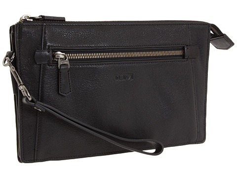 Tumi Beacon Hill - Double Zip Top Leather Clutch Black - Zappos.com Free Shipping BOTH Ways