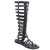 Bumper LORY90 Women's Strappy Knee High Flat Bottom Zipper Gladiator Sandal Boot | eBay
